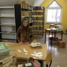 Porządkowanie biblioteki szkolnej i pierwsze spotkanie DKK